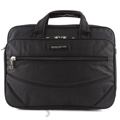 Aoking 2791 fekete gyöngyvászon laptoptartós táska eleje
