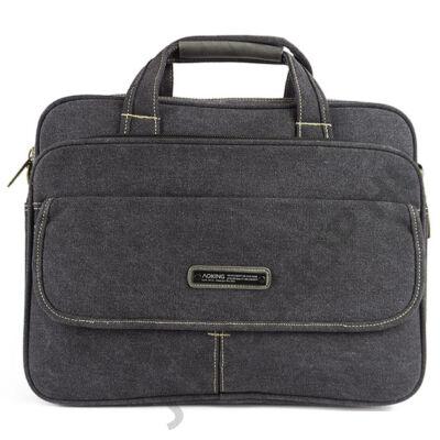 Aoking 2210 grafit színű fedeles zsebes laptoptartós táska eleje