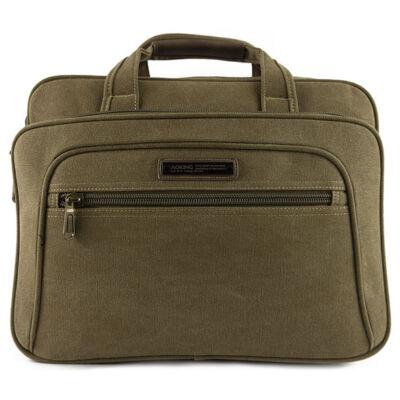 Aoking 27055 homok színű cipzáros zsebes laptoptartós táska eleje