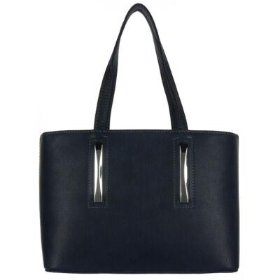 Chiara 3 részes sötétkék rostbőr női táska eleje M800