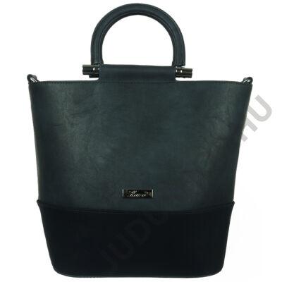 Karen sötétkék kombinált női rostbőr táska eleje 2191 AJDA