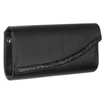 Díva aszimmetrikus fekete alkalmi táska
