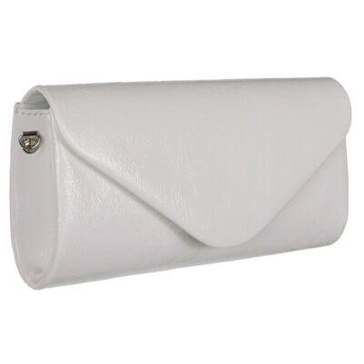 Gyűrt fehér Díva alkalmi táska