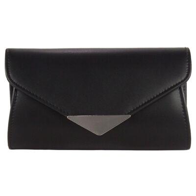 XQ9011 fekete alkalmi táska eleje
