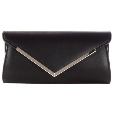 XQ9012 fekete alkalmi táska eleje