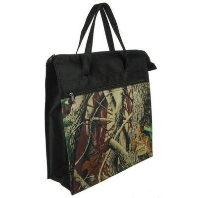 Őszi mintás fekete bevásárló táska