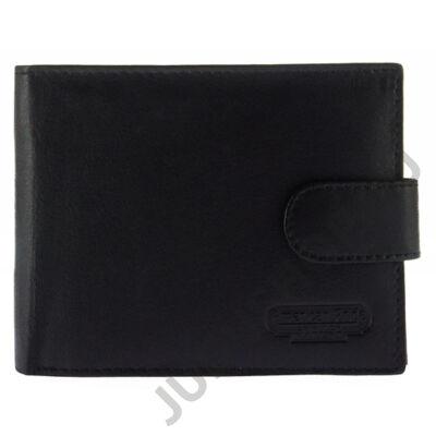 LP11X fekete férfi bőr pénztárca