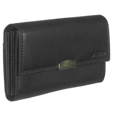 Lascala dg89b fekete bőr pénztárca