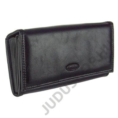 111-2V fekete műbőr brifkó pénztárca
