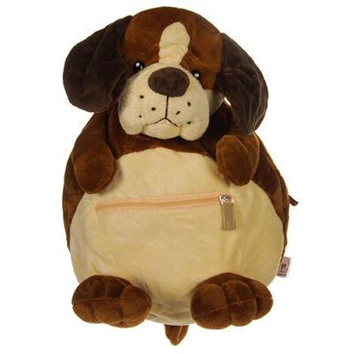 Barna fülű plüss kutya háti