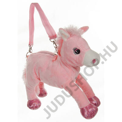 Rózsaszín póni plüss táska
