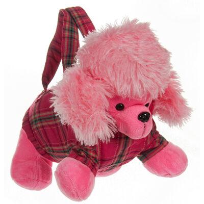 Rózsaszín plüss kutya táska