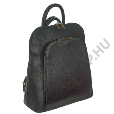 15629 fekete műbőr hátizsák