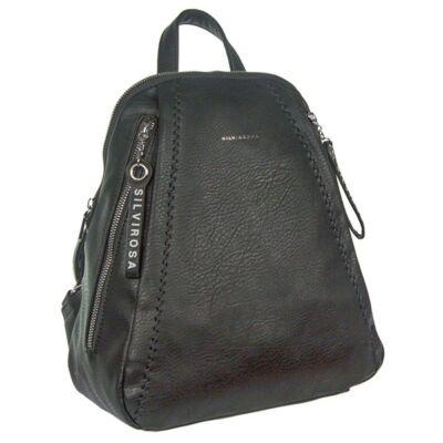 Silviarosa 6634 fekete műbőr hátizsák