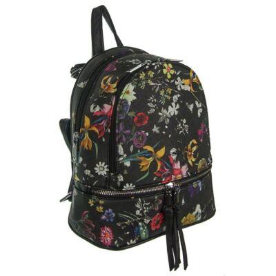 Urban a172 virágos fekete hátizsák