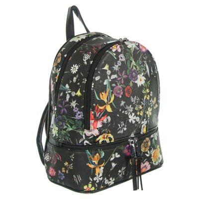 Urban a1738 virágos fekete hátizsák