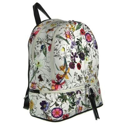 Urban a1738 virágos fehér-fekete hátizsák