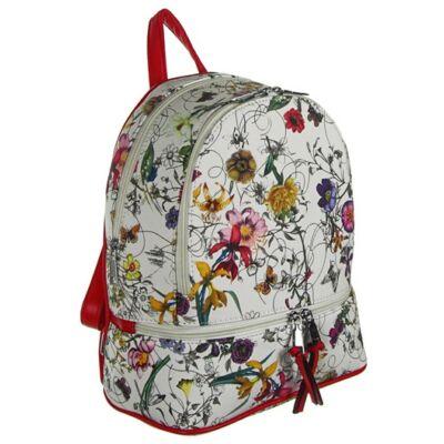 Urban a1738 virágos fehér-piros hátizsák