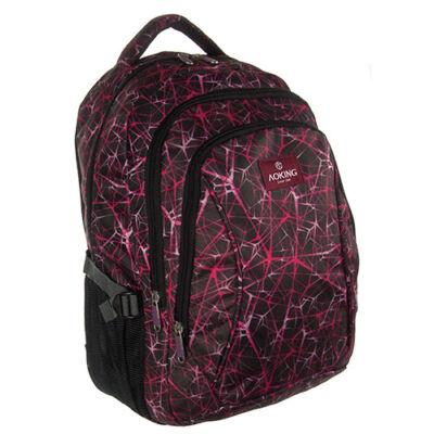 Aoking be57475 lila mintás hátizsák