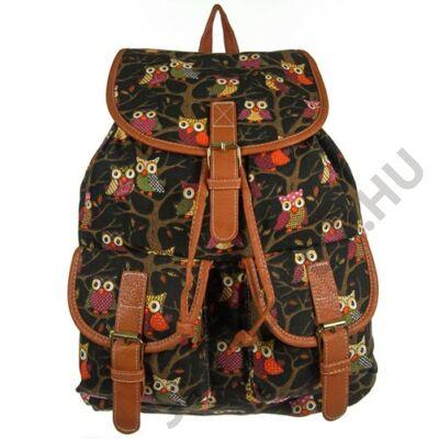 9198 fekete baglyos hátizsák
