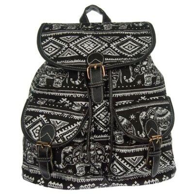 9244 elefántos fekete hátizsák