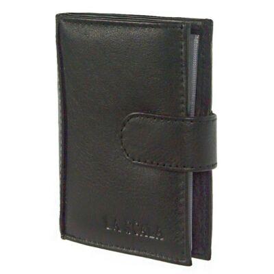 Lascala ad2038/t fekete bőr kártyatartó