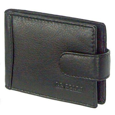 Lascala ad30809/t fekete bőr kártyatartó