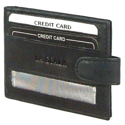 Lascala dk13 fekete bőr kártyatartó