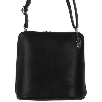 Kicsi fekete női bőr táska