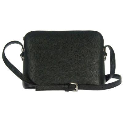 Kicsi merev fekete bőr női táska