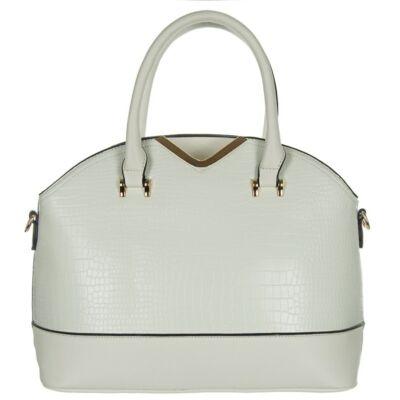 9861-6 fehér műbőr női táska