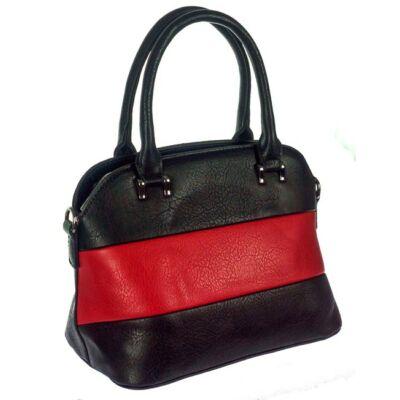 Erica fekete-piros műbőr táska