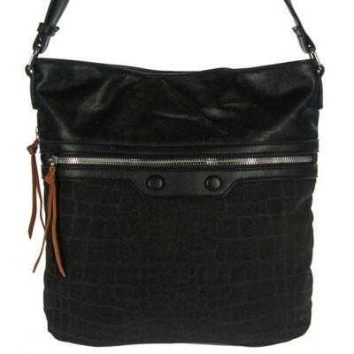 Fengda 6607 fekete műbőr női táska