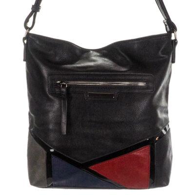 77865 fekete műbőr női táska