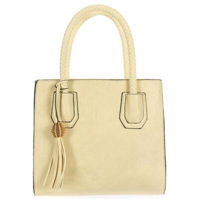 A2616 drapp műbőr női táska