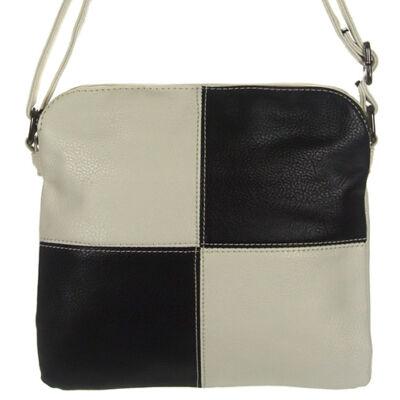 Gullig fehér-fekete kockás női táska