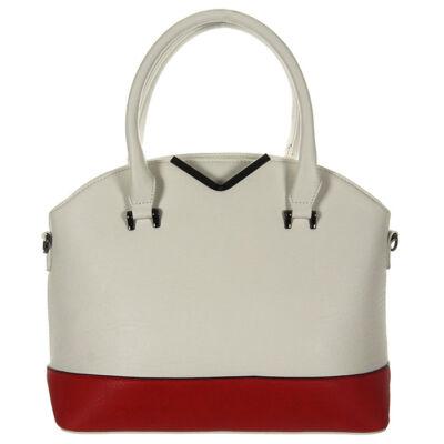 L82225 fehér-piros női táska