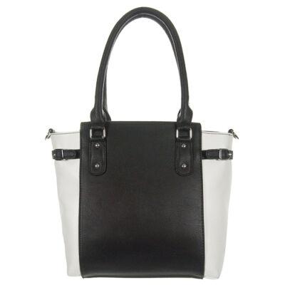 kx72086 fekete-fehér műbőr táska