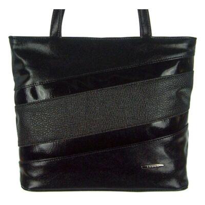 Lamma 182 fekete műbőr női táska