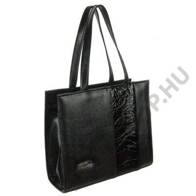 Lamma 199 fekete műbőr női táska