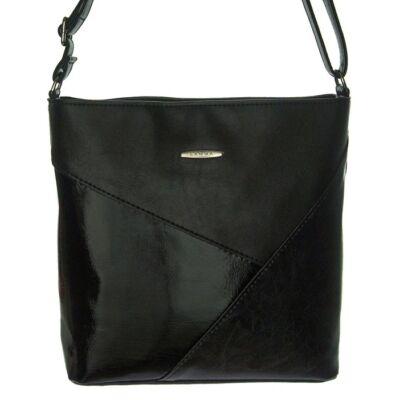 Lamma 206 fekete műbőr női táska