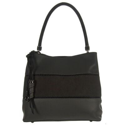 MariaC 648 szürke csíkos női táska