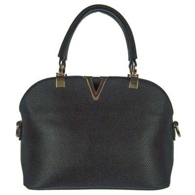 201831 fekete műbőr női táska