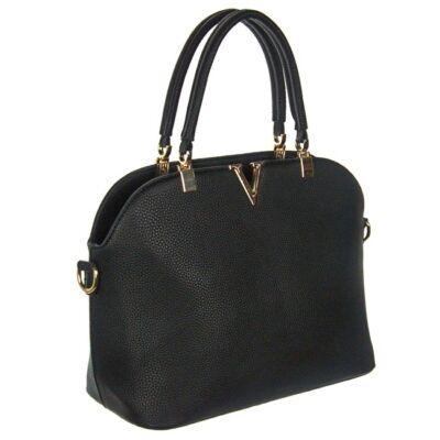 201832 fekete műbőr női táska