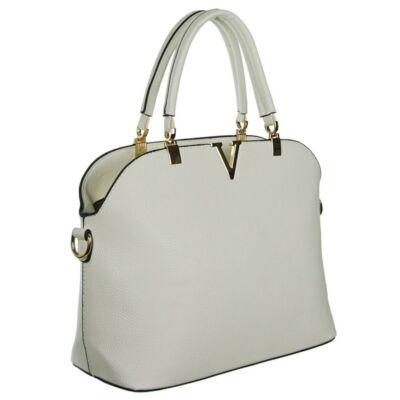 201832 fehér műbőr női táska