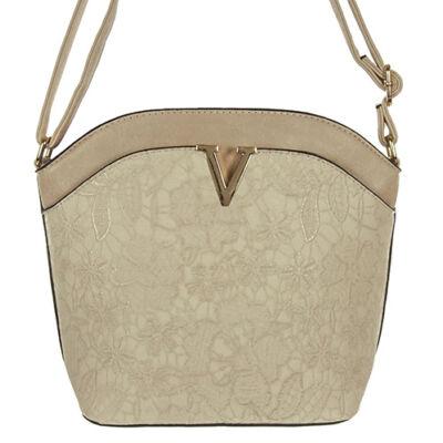 H055 bézs női táska