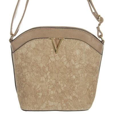 H055 mogyoró női táska