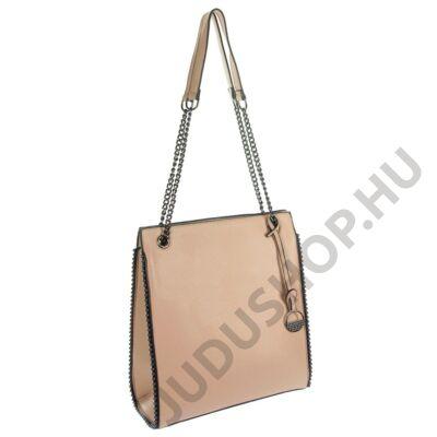 zh406 láncos fogós drapp műbőr női táska