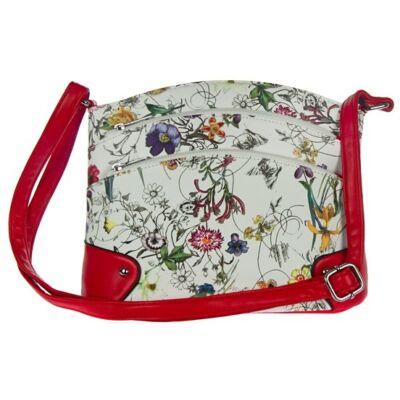 Urban-219 virágmintás piros fogós női táska