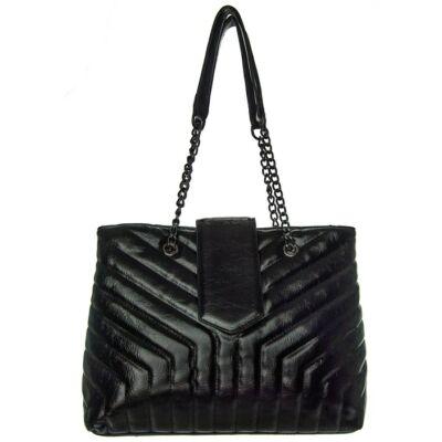 Urban S a2024 fekete műbőr táska